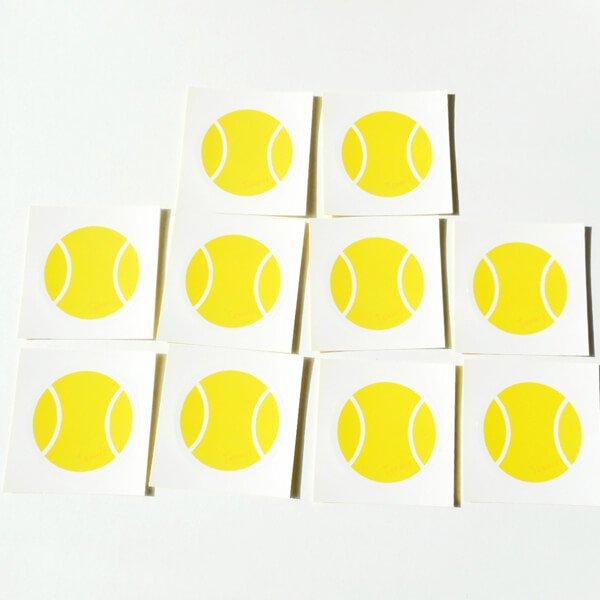 テニスボールグッズ セット購入がお得! テニスボール型の可愛いシール ボール直径4センチ 単価 19円〜【画像2】
