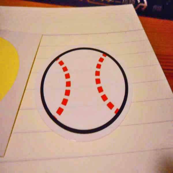 野球グッズ セット購入がお得! 野球ボール型の可愛いシール ボール直径4センチ 単価 19円〜【画像4】
