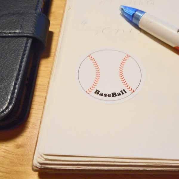 野球グッズ セット購入がお得! 野球ボール型の可愛いシール ボール直径4センチ 単価 19円〜【画像6】