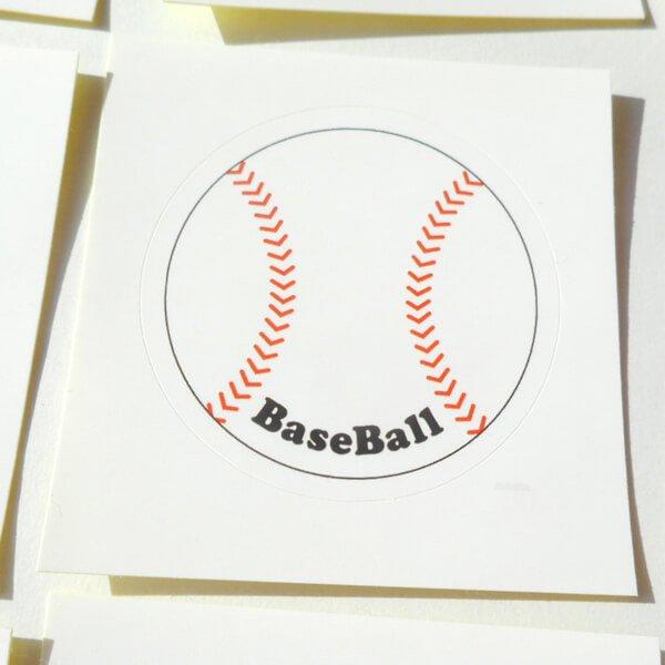 野球グッズ セット購入がお得! 野球ボール型の可愛いシール ボール直径4センチ 単価 19円〜【画像9】