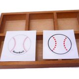 野球ボール型の可愛いシールボール直径4センチ