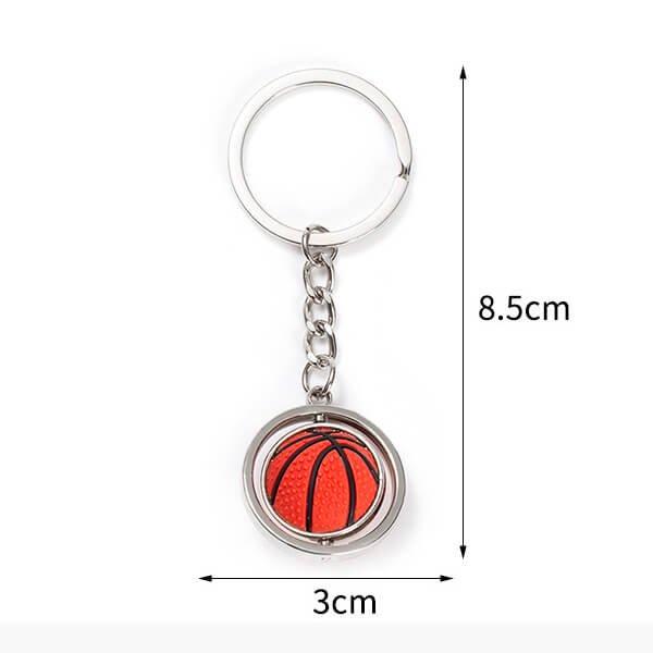 くるくるバスケットボールのキーホルダー【画像2】