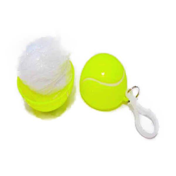 急な雨対策に! 携帯用フック付き テニスボールINポンチョ(レインコート)【画像2】