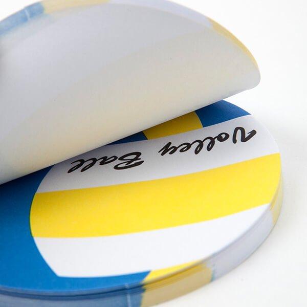 セットでお得! 可愛いバレーボール型のオリジナルカラー付箋メモ 約50枚 単価224円〜【画像2】