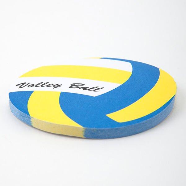 セットでお得! 可愛いバレーボール型のオリジナルカラー付箋メモ 約50枚 単価224円〜【画像3】