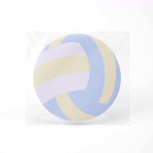 セットでお得! 可愛いバレーボール型のオリジナルカラー付箋メモ 約50枚 単価224円〜【画像4】