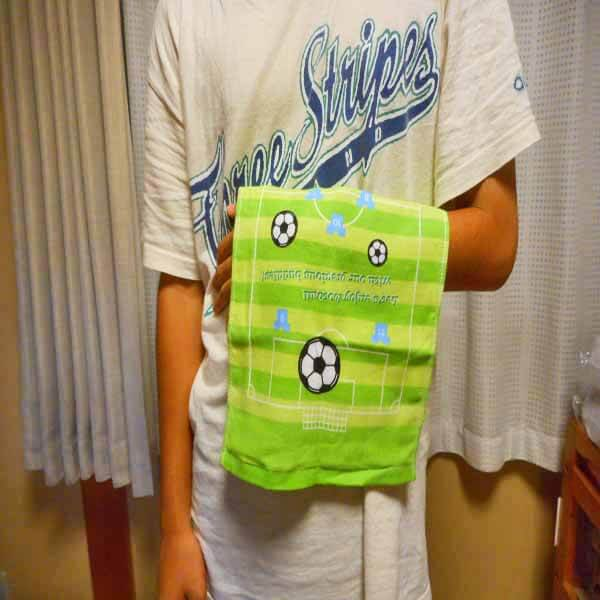 セットがお得 サッカーコート柄のオリジナルタオル 単価628円〜【画像6】