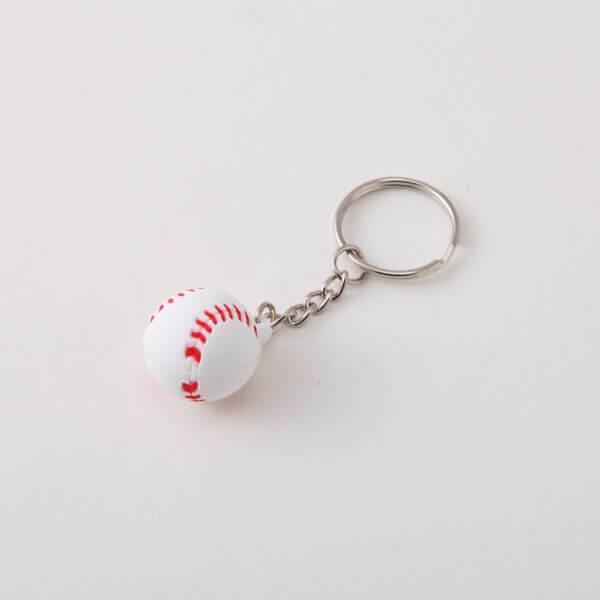 セットがお得 可愛いゴムキーホルダー 野球のボール 単価136円〜【画像2】