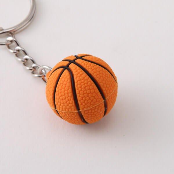 セットがお得 可愛いゴムキーホルダー バスケットボール 単価136円〜