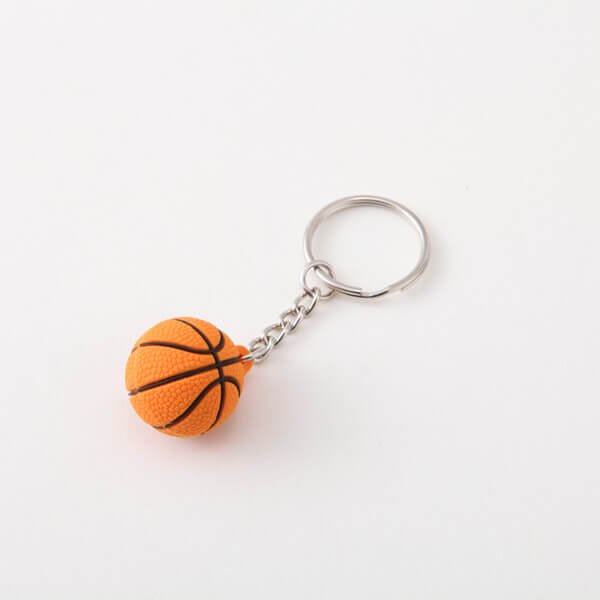 セットがお得 可愛いゴムキーホルダー バスケットボール 単価136円〜【画像2】