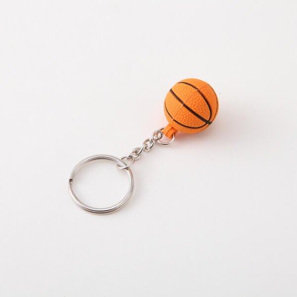 セットがお得 可愛いゴムキーホルダー バスケットボール 単価136円〜【画像3】