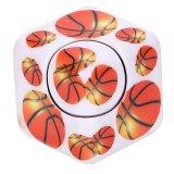 バスケットボール柄入りフィジェットキューブ キューブ型ハンドスピナー