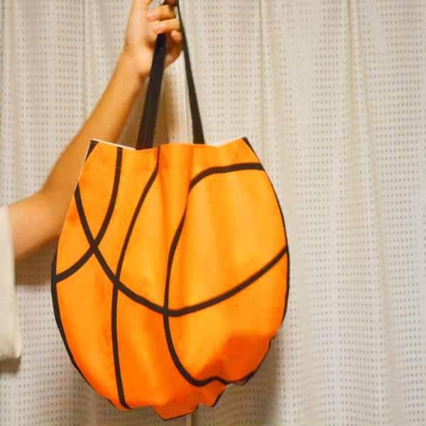 バスケットボール型オリジナルトートバック【画像4】