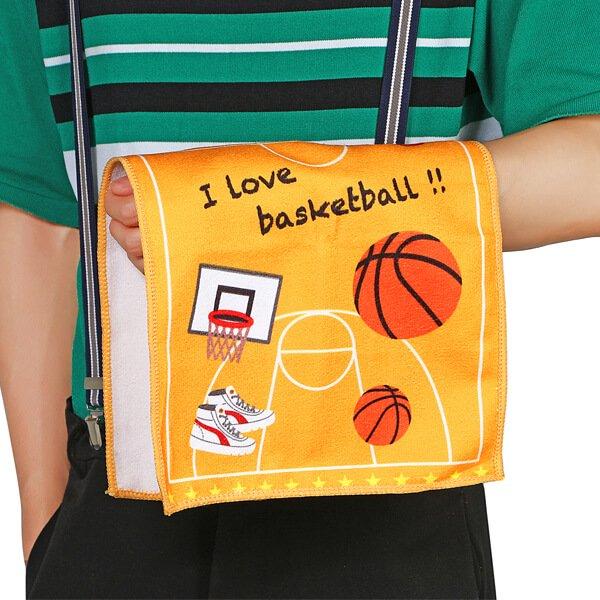 バスケットコート柄のオリジナルタオル【画像4】