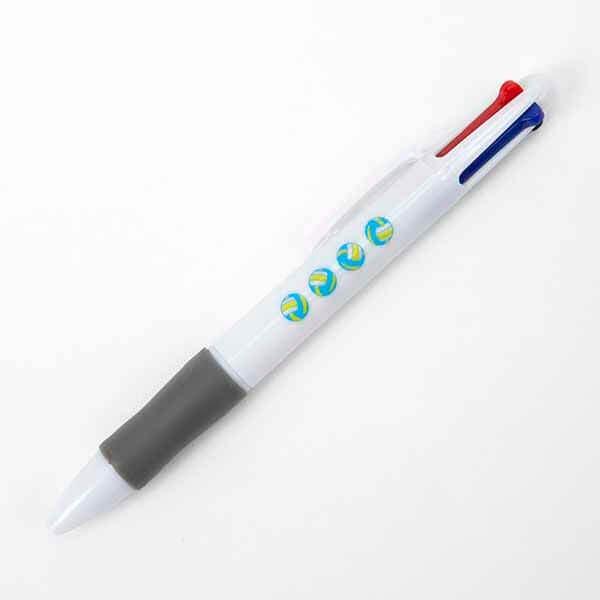 セットがお得! バレーボール柄入り かわいいオリジナル4色ボールペン 単価100円〜