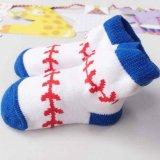 かわいい赤ちゃんソックス野球ボール柄