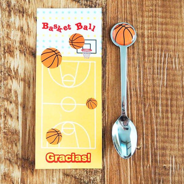 スポーツボールスプーンバスケットボール型【画像3】