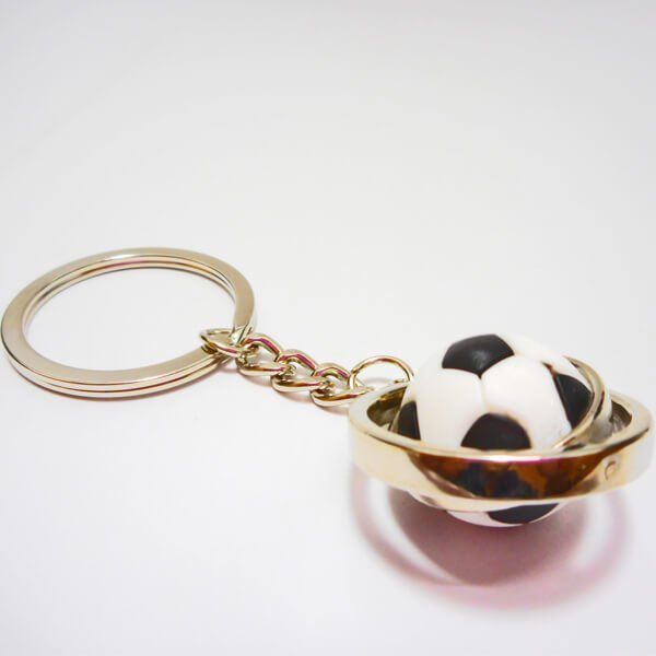 くるくるサッカーボールのキーホルダー【画像5】