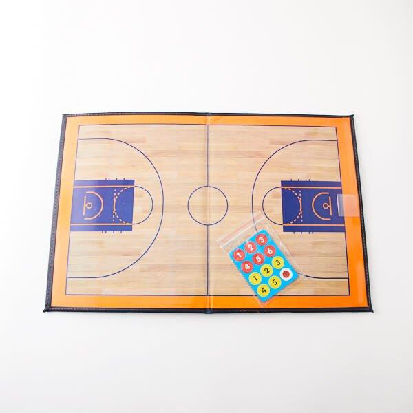 バスケットボールコート 折りたたみ式戦術ボード(イレーザー付き)