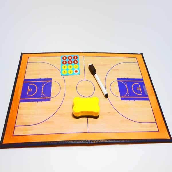 バスケットボールコート 折りたたみ式戦術ボード(イレーザー付き)【画像4】