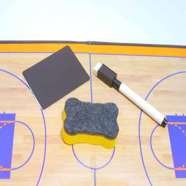 バスケットボールコート 折りたたみ式戦術ボード(イレーザー付き)【画像5】