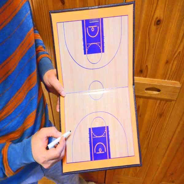 バスケットボールコート 折りたたみ式戦術ボード(イレーザー付き)【画像8】