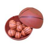 バスケットボールグッズ・おもちゃ バスケットボール型(薄いオレンジ) スーパーボール 1個