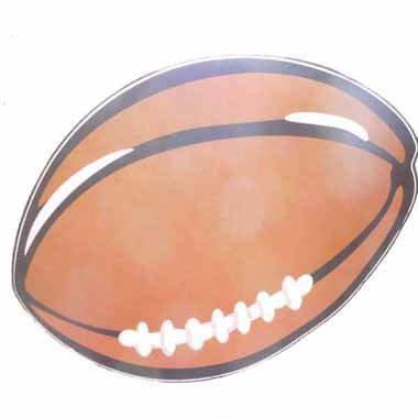 ラグビーボールのウォールステッカー 1枚【画像4】