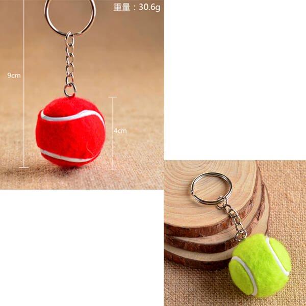 大きいカラフルテニスボールのキーホルダー 1個【画像3】
