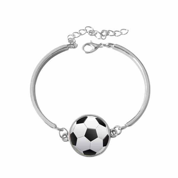 サッカーボールアクセサリー お洒落なサッカーボールのブレスレット【画像2】