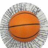 バスケットボールの3Dステッカーシール めり込みボール