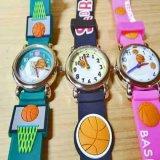可愛いバスケットボール柄 子供用腕時計 1個