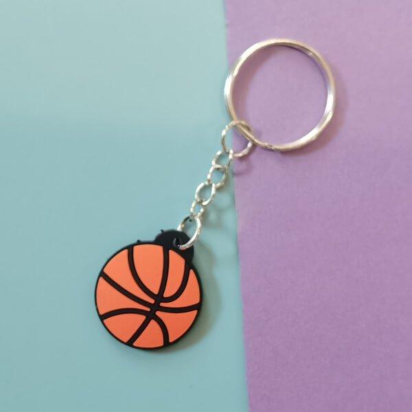 セットがお得 フラットゴムキーホルダー バスケットボール 単価100円〜