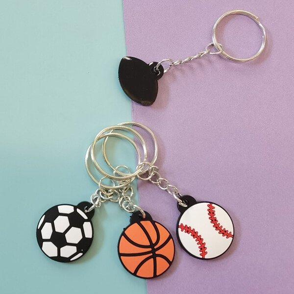 セットがお得 フラットゴムキーホルダー バスケットボール 単価100円〜【画像2】