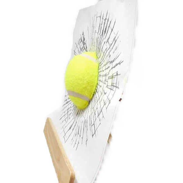テニスボールグッズ・おもちゃ テニスボールの3Dステッカーシール めり込みボール