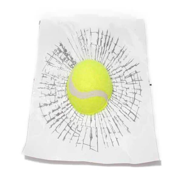 テニスボールの3Dステッカーシール めり込みボール【画像2】