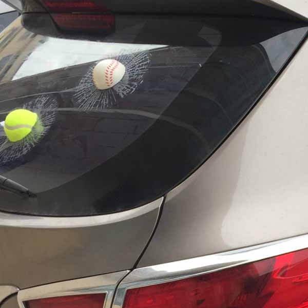 テニスボールの3Dステッカーシール めり込みボール【画像5】