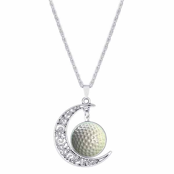 ゴルフアクセサリーゴルフボールのムーンネックレス