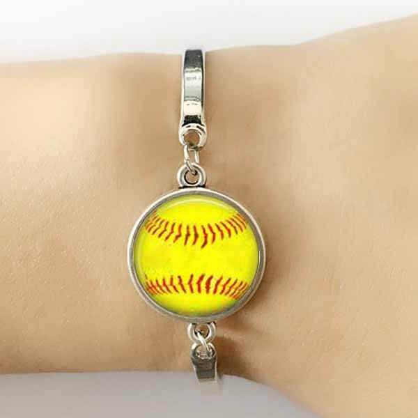野球ボールグッズ・アクセサリー お洒落な野球ボールのブレスレット【画像2】