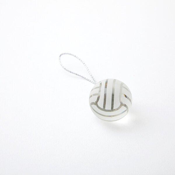 バレーアクセサリークリスタルストラップバレーボールタイプ直径25ミリ【画像4】