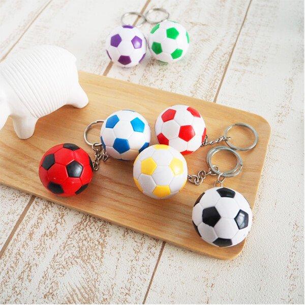 新カラフルなサッカーボールキーホルダー  ランダム1個【画像4】