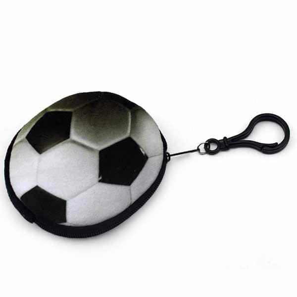 フック付きのリアルコインケース サッカーボール型 1個