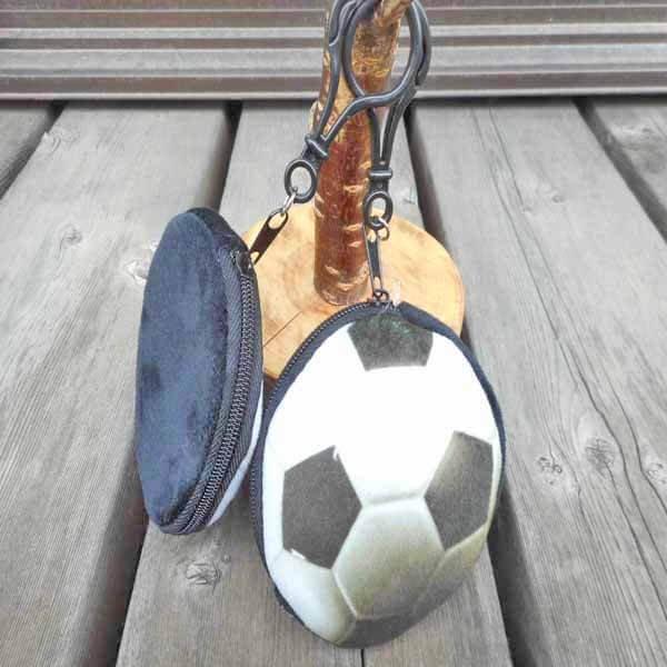 フック付きのリアルコインケース サッカーボール型 1個【画像4】