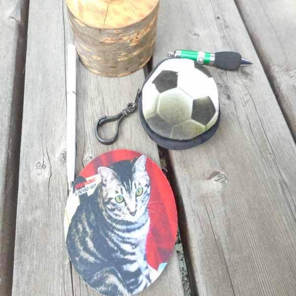 フック付きのリアルコインケース サッカーボール型 1個【画像6】
