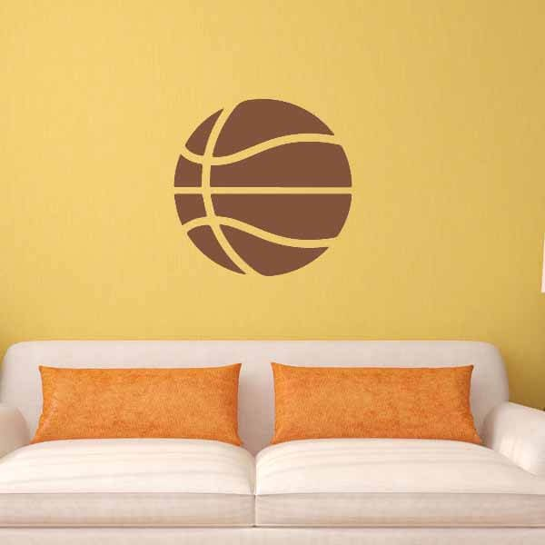 新生活期間セール 茶色いバスケットボールのウォールステッカー 大サイズ1枚
