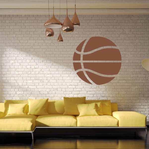 新生活期間セール 茶色いバスケットボールのウォールステッカー 大サイズ1枚【画像2】