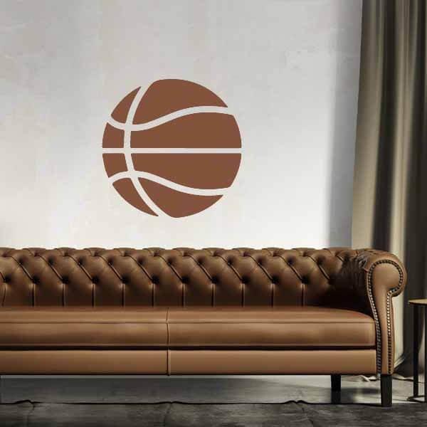新生活期間セール 茶色いバスケットボールのウォールステッカー 大サイズ1枚【画像3】
