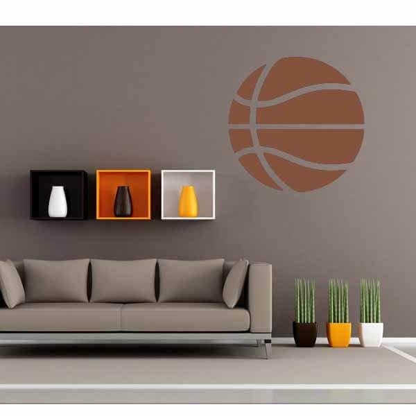 新生活期間セール 茶色いバスケットボールのウォールステッカー 大サイズ1枚【画像5】