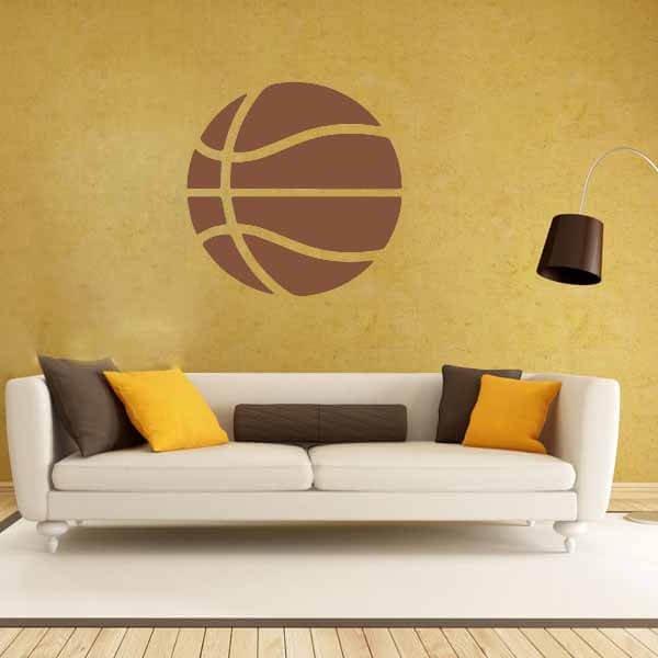 新生活期間セール 茶色いバスケットボールのウォールステッカー 大サイズ1枚【画像6】