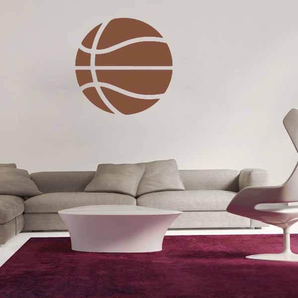 新生活期間セール 茶色いバスケットボールのウォールステッカー 大サイズ1枚【画像7】